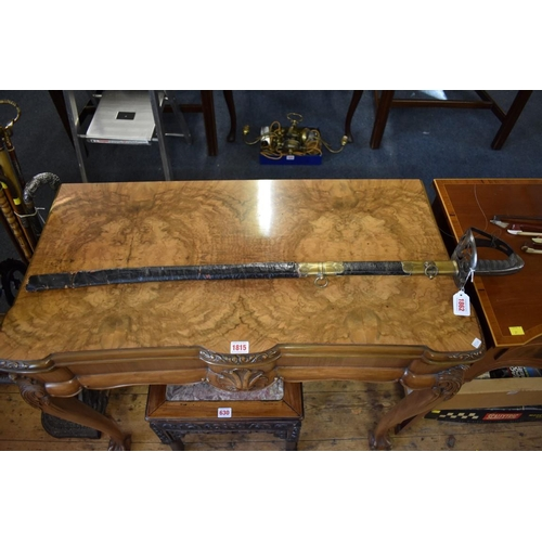 1862 - <strong>A 19th century British military officer's sword and scabbard,</strong>81cm blade....