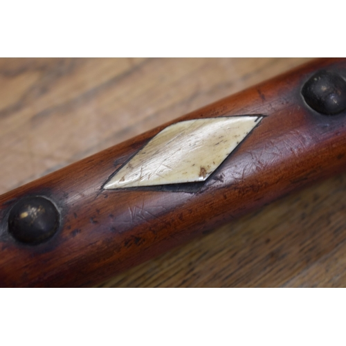 1855 - <strong>An old American tomahawk peace pipe axe,</strong> 44cm long....