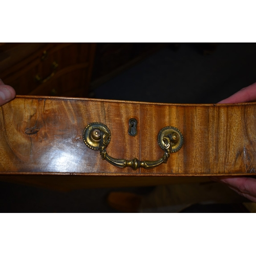 1782 - <strong>An 18th century colonial hardwood serpentine fronted chest of drawers,</strong>possibly pad...