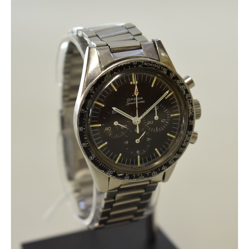 204 - <strong>A rare circa 1965 Omega 'Ed White' Speedmaster stainless steel manual wind wristwatch</stron...