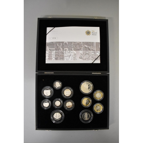 306 - <strong>Coins:</strong> a Royal Mint 2009 limited edition silver proof set, to include Kew Gardens 5...