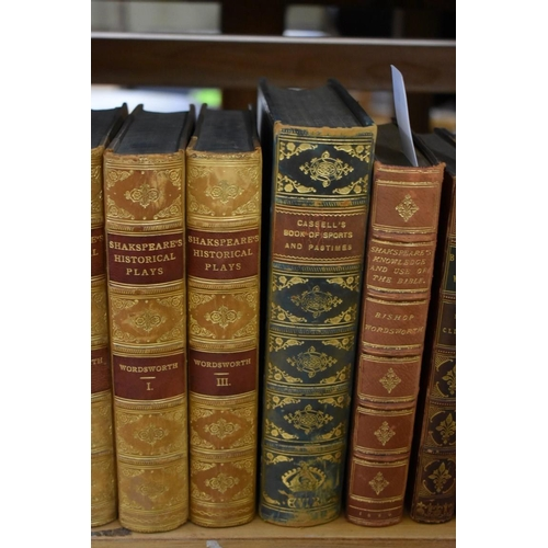 607 - <strong>WORDSWORTH (Charles):</strong>'Shakespeare's Historical Plays...': 3 vols, 1883: 8vo, ...
