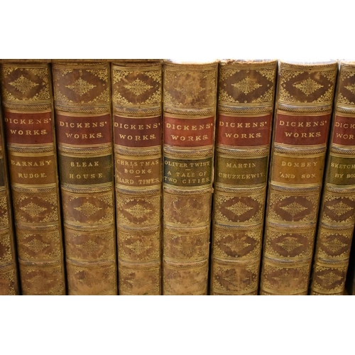 608 - <strong>DICKENS (Charles): </strong>collection of 23 works in 17 vols, Chapman & Hall circa...
