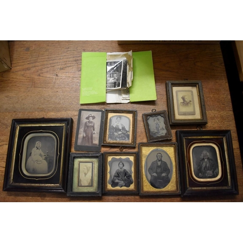 614 - <strong>PORTRAIT PHOTOGRAPHY:</strong>a small quantity, to include 6 ambrotype portrait of mal...