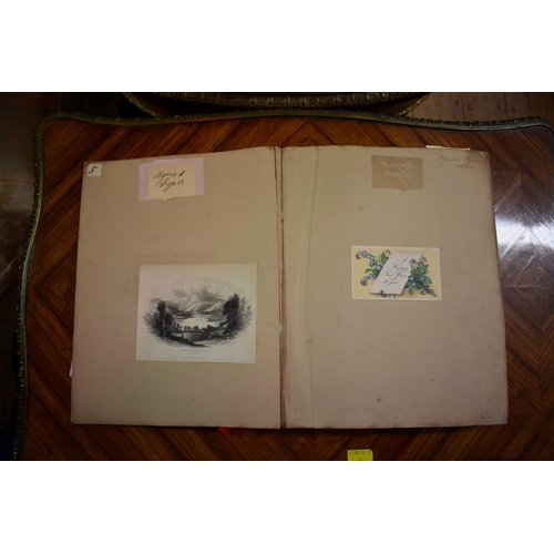 618 - <strong>ALBUM: DRAWINGS & WATERCOLOURS:</strong> album of watercolour sketches and drawings by o...