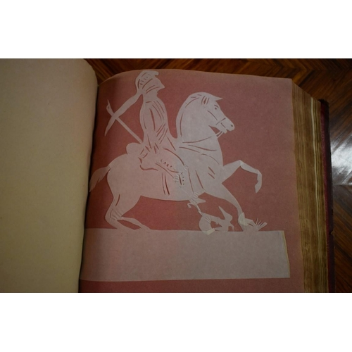 623 - <strong>ELIZABETH COBBOLD: GEORGIAN CUT PAPER WORK: </strong>a remarkable album of cut-paper work, l...