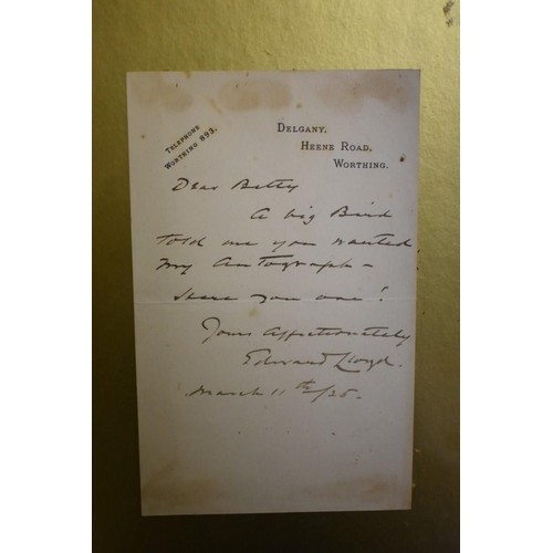 626 - <strong>CLARK GABLE: </strong>autograph of Clark Gable in blue ink, headed notepaper of 5th Regiment...