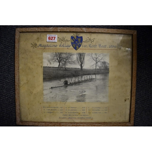 627 - <strong>OXFORD ROWING:</strong>a souvenir painted oar, Magdalene College 1st May Boat 1956: wi...