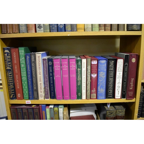 634 - <strong>FOLIO SOCIETY:</strong>32 vols, most VG in slipcases, to include; Peter Pan in Kensington G...