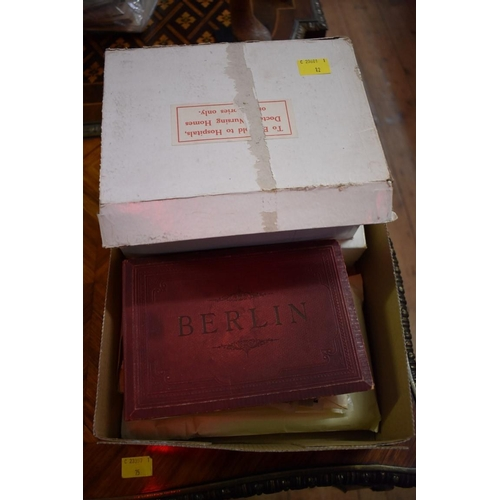 635 - <strong>POSTCARDS:</strong>a quantity boxed and in tray, mainly UK and European topography and...