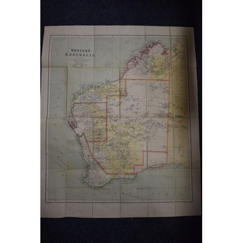 638 - <strong>FOLDING MAPS: </strong>'Western Australia..' George Philip & Son, late 19th-early 20thc:...