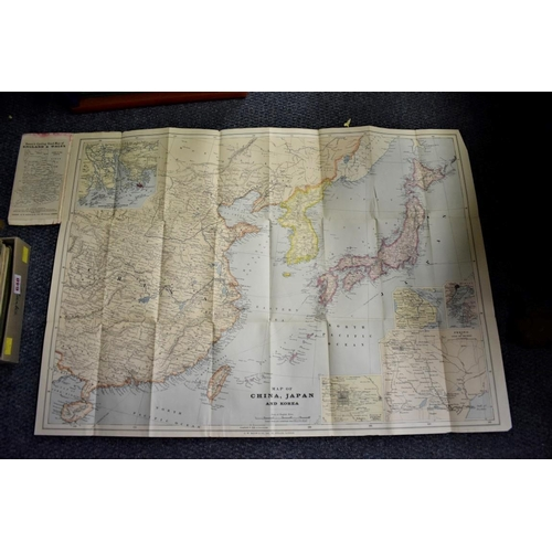 647 - <strong>FOLDING MAP: </strong>'Bacon's Large-Print Wall Map of China and Japan'.., London, G W Bacon...