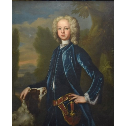 1706 - <strong>(HP) Circle of Jonathan Richardson,</strong> Sir Coventry Carew as a young man, with spaniel...