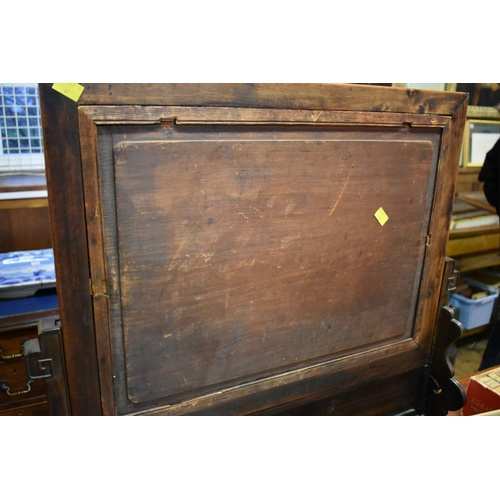 1699 - <strong>(HP) An interesting Chinese hardwood and inlaid frame table screen,</strong>incorporating f...