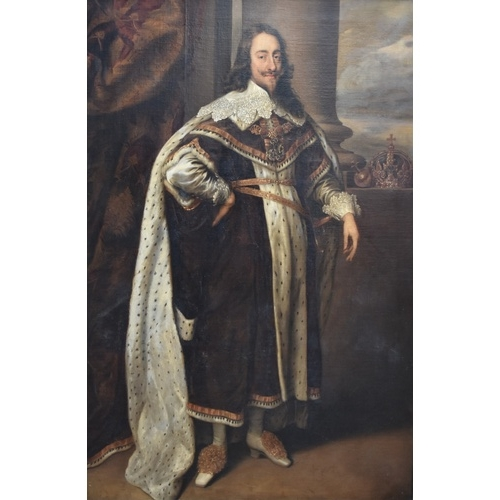 1718 - <strong>(HP) After Sir Anthony Van Dyke,</strong> probably 18th century, full length portrait of Cha...