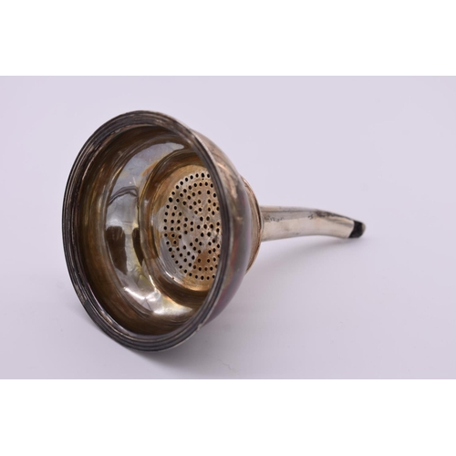 22 - <strong>A George III silver wine funnel,</strong> probably by <em>Peter & William Bateman,<...