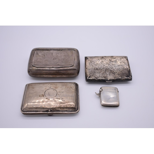 42 - <strong>An Edwardian silver tobacco box,</strong>by <em>Colen Hewer Cheshire</em>, Chester 1906; to...