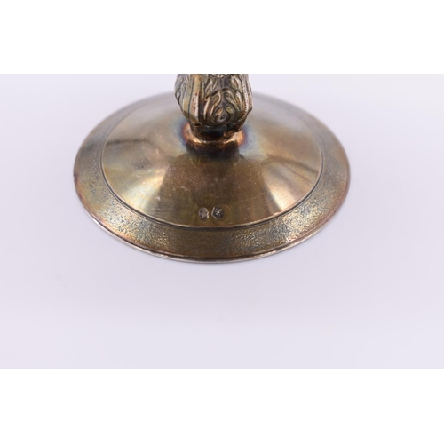 5 - <strong>A Continental white metal tazza, </strong>10cm high....
