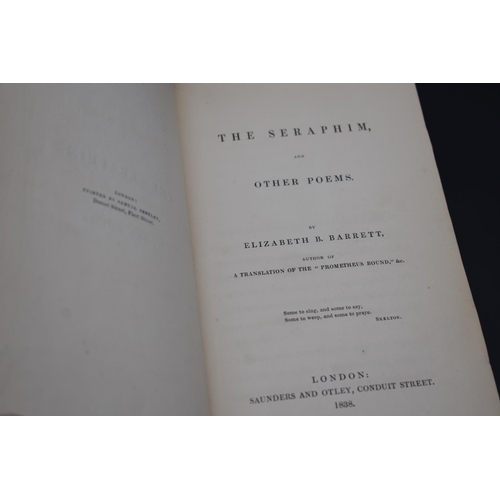 40 - <strong>BROWNING (Elizabeth Barrett): </strong>'The Seraphim, and Other Poems...' London, Saunders &...