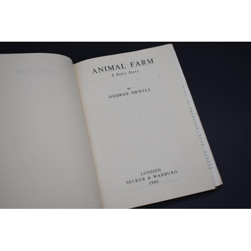 41 - <strong>ORWELL (George): </strong>'Animal Farm...a Fairy Story', London, Secker & Warburg, 1945....