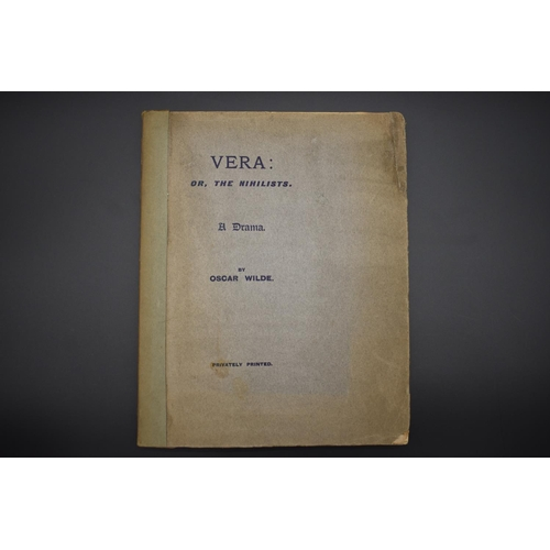 53 - <strong>WILDE (Oscar): </strong>'Vera, or the Nihilists..': privately printed, 1902: No.169/200 copi...