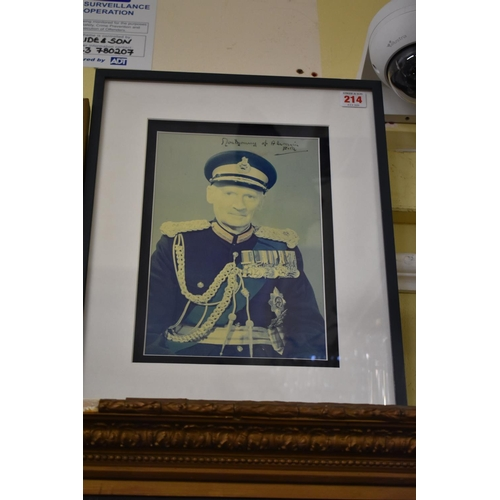 1344 - <strong>Montgomery of Alamein:</strong> signed colour photograph of Field Marshal Montgomery, inscri...