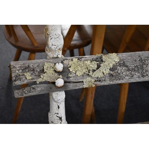 1740 - <strong>A Victorian cast iron garden bench</strong>, 167cm wide....