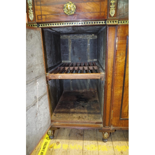 1749 - A Regency mahogany,crossbanded and brass inlaid side cabinet,170cm wide....