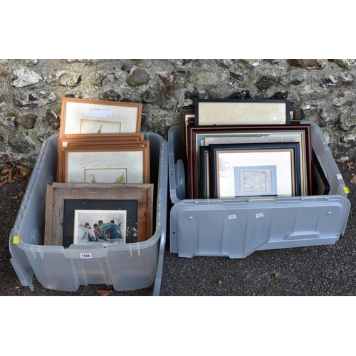 1006 - A quantity of pictures and prints. (two boxes)<strong>This lot can only be collected on Saturday 5t...