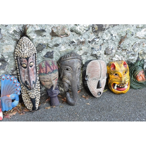 1007 - A quantity of decorative face masks.<strong>This lot can only be collected on Saturday 5th Sep...