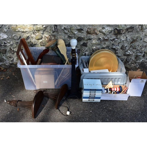 1014 - Two cartons of sundry. <strong>This lot can only be collected on Saturday 5th September (10-2pm)</st...