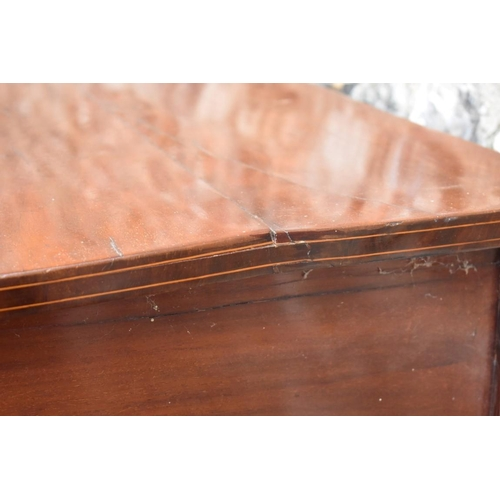 1016 - An antique inlaid mahogany bowfront sideboard, 160cm wide.<strong>This lot can only be collected on...