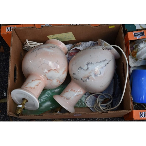 1037 - Five cartons of ceramics, glassware, silverplate and sundry.<strong>This lot can only be colle...