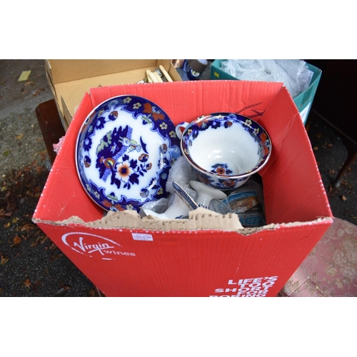 1039 - Two cartons of ceramics. <strong>This lot can only be collected on Saturday 5th September (10-2...