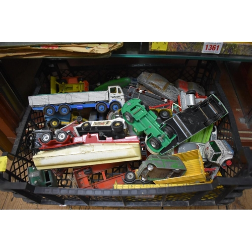 1362 - <strong>A collection of Dinky, Corgi, Spot-On and other similar die-cast vehicles, </strong>(all pla...