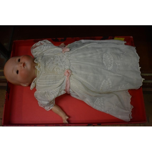 1371 - <strong>An Armand Marseille baby doll, </strong>(eyes loose in head)....