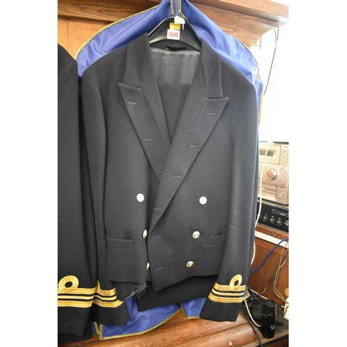 1608 - <strong>A Royal Naval Lt Commander's jacket and trousers. </strong>...
