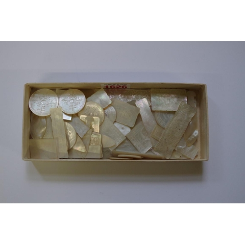 1626 - <strong>A collection of Chinese mother-of-pearl gaming counters.</strong>(71)...