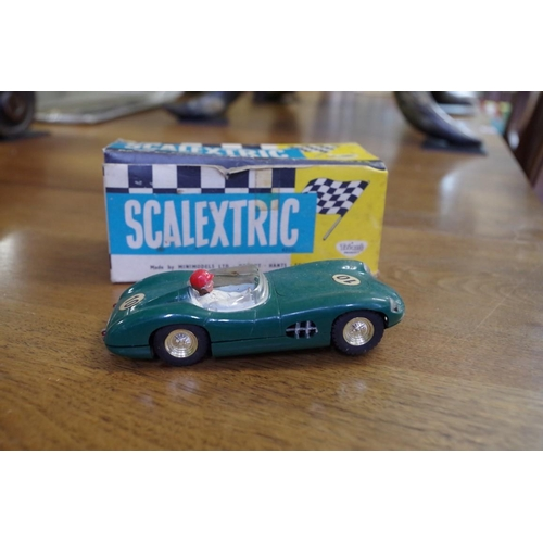 1671 - <strong>Scalextric:</strong>a collection of vintage items, to include two Motorcycle sidecars,...