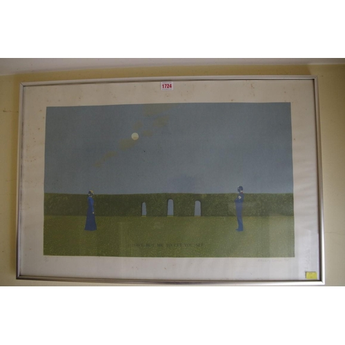 1724 - <strong>Mary Barnes,</strong>'I have but me to let you see', signed, dated 1974 and numbered 1...