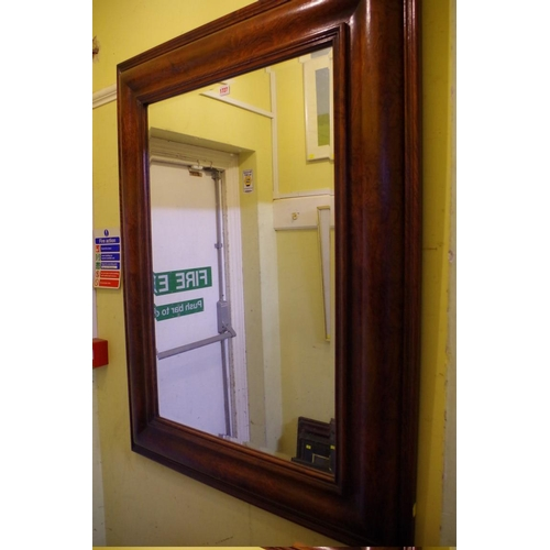 1727 - <strong>A contemporary hardwood framed rectangular wall mirror, </strong>121 x 91cm. ...