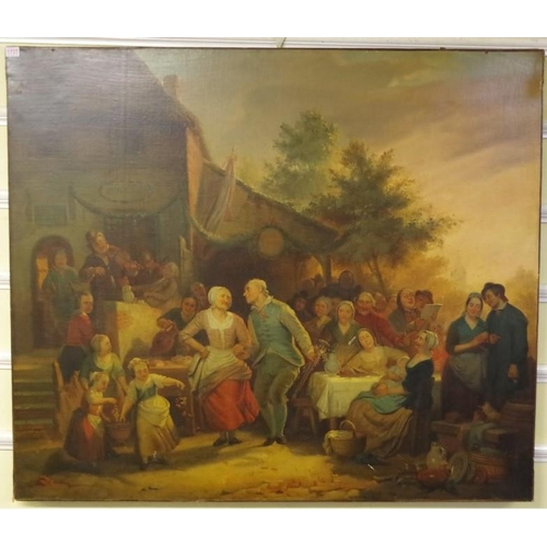 1737 - <strong>Manner of David Teniers, </strong>probably 19th century, 'Village Merry Making', oil on canv...