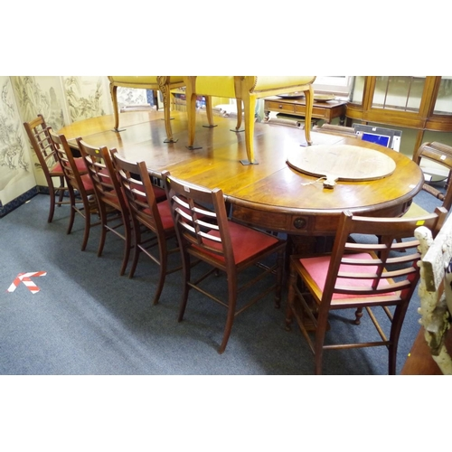 1743 - <strong>A set of six late 19th century mahogany dining chairs.</strong>...