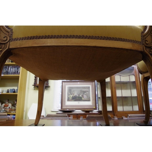 1745 - <strong>An unusual pair of antique carved beech frame petal back armchairs.</strong>...