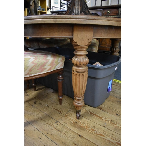 1753 - <strong>A late Victorian walnut extending dining table,</strong>240cm extended, with winder.&n...