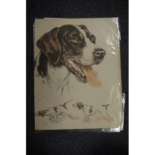 1758 - <strong>A collection of dog, horse and other animal prints.</strong>...