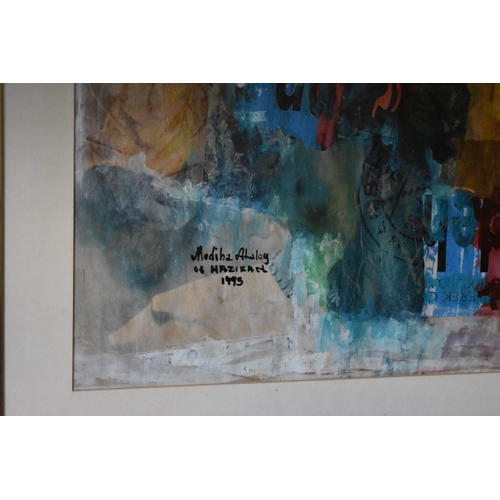 1760 - <strong>Mediha Ataley, </strong>untitled, three works, each signed and dated, mixed media, ...
