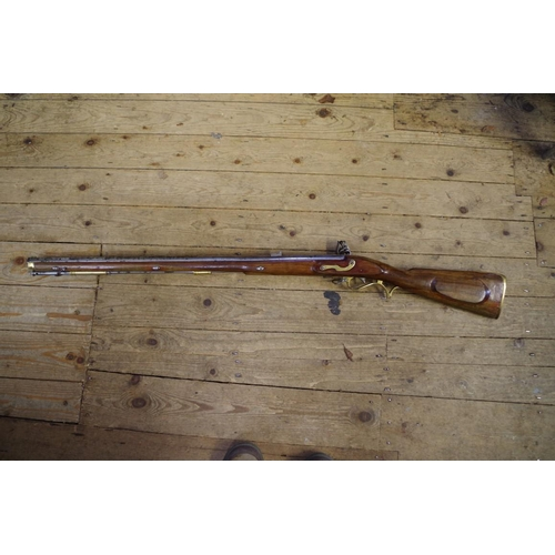 1770 - <strong>A reproduction Napoleonic British Army Baker .625 flintlock rifle,</strong> no touch hole, s...