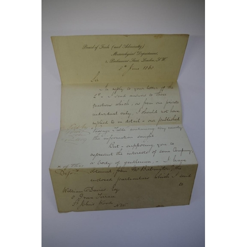 1779 - <strong>Ephemera:</strong>a small collection of 19th century and later correspondence, to include: ...