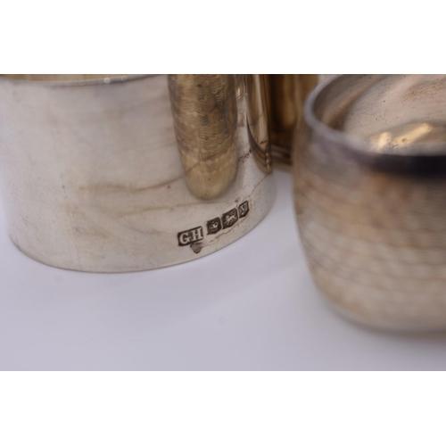 101 - <strong>Ten various silver napkin rings,</strong> 270g....